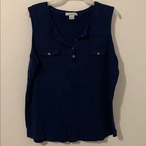 XL navy Blue Liz Claiborne Top